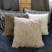 Long hair cushion cushion cover throw pillow cover for couch