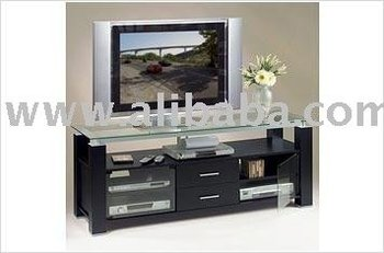 Credenza Con Tv : Black credenza tv stand and audio rack combination unit buy