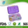 New Plastic Lunch Boxes 6 Compartment Bento Lunch Box Containers Set for Kids and Adult