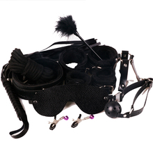 Hot Furry Alibaba Amazon Adult Toy Girl Plush PU Leather Bdsm Bondage kit 10 for adult sex toy