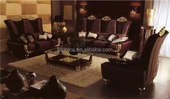 Italy Designer Fashion Design Sectional Sofa, Luxurious Gilt Engraved Sofa  Set, Noble Formal Sofa