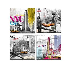 New York Canvas Prints Modern Paintings American Impression Famous Architecture in the USA Wall Decor Canvas Art