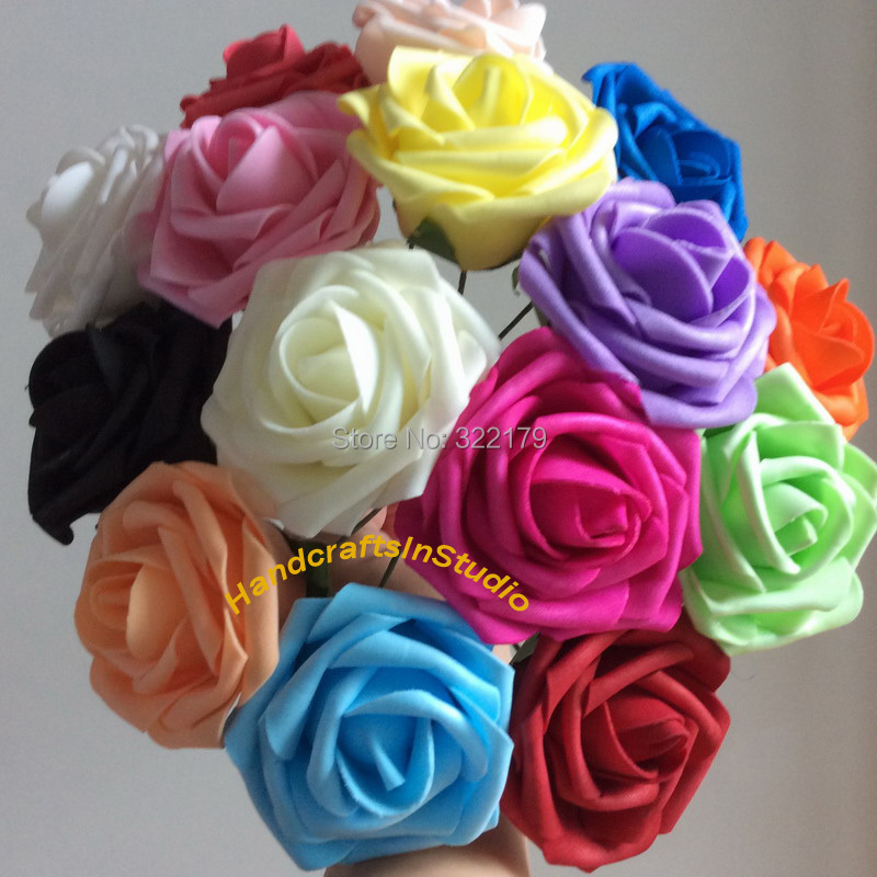 100pcs diameter 8cm artificial flowers for decoration real touch flower fake roses bridal. Black Bedroom Furniture Sets. Home Design Ideas