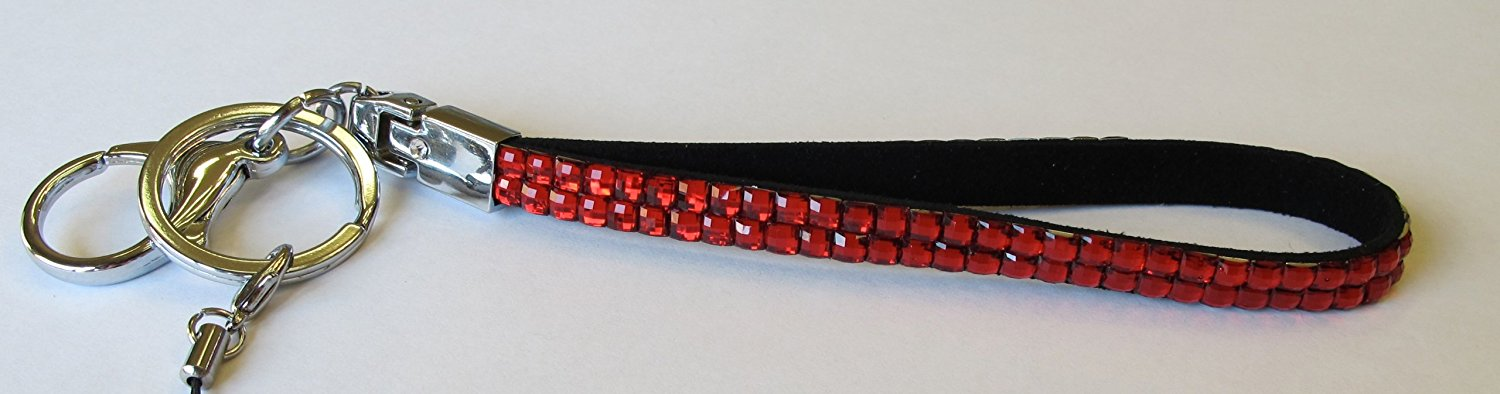 December Diamonds Red Rhinestone Wristlet Keychain!!! Perfect Nurse Appreciation, Teacher, or Graduation Gift! Perfect for your safety! Never search for your Keys again. This Sparkles!!!Amazing Gift for New Red Vehicle Owner!!!