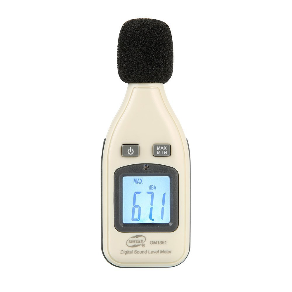 GM1351 Handhled Digital Sound Noise Level Testing Meter Decibel Logger Gauge with Measuring Range 30 to 130dB Portable Sound Decibel Noise Measuring Meter with Digital Display