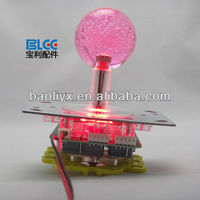 Good Quality Illuminated Joystick With Crystal Bobble Top Ball and Microswitch-Arcade Parts For Arcade Machine