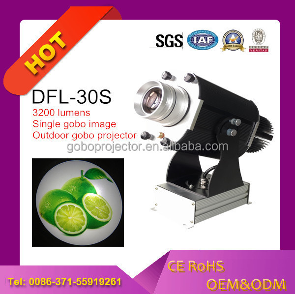 CE Rohs certification LED logo advertising gobo projector waterproof outdorr