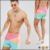 Drawstring waistband Mesh lining Side pockets Single back pocket booty Swim Shorts men In Cut & Sew In Short Length