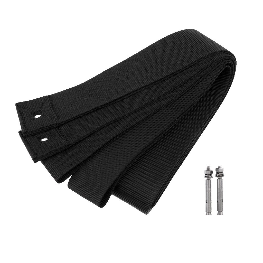 MonkeyJack 2Pcs Heavy Duty High Strength Stand Up Paddle Board SUP Surfboard Storage Wall Rack Webbing Straps Hanger with Paddle Holder