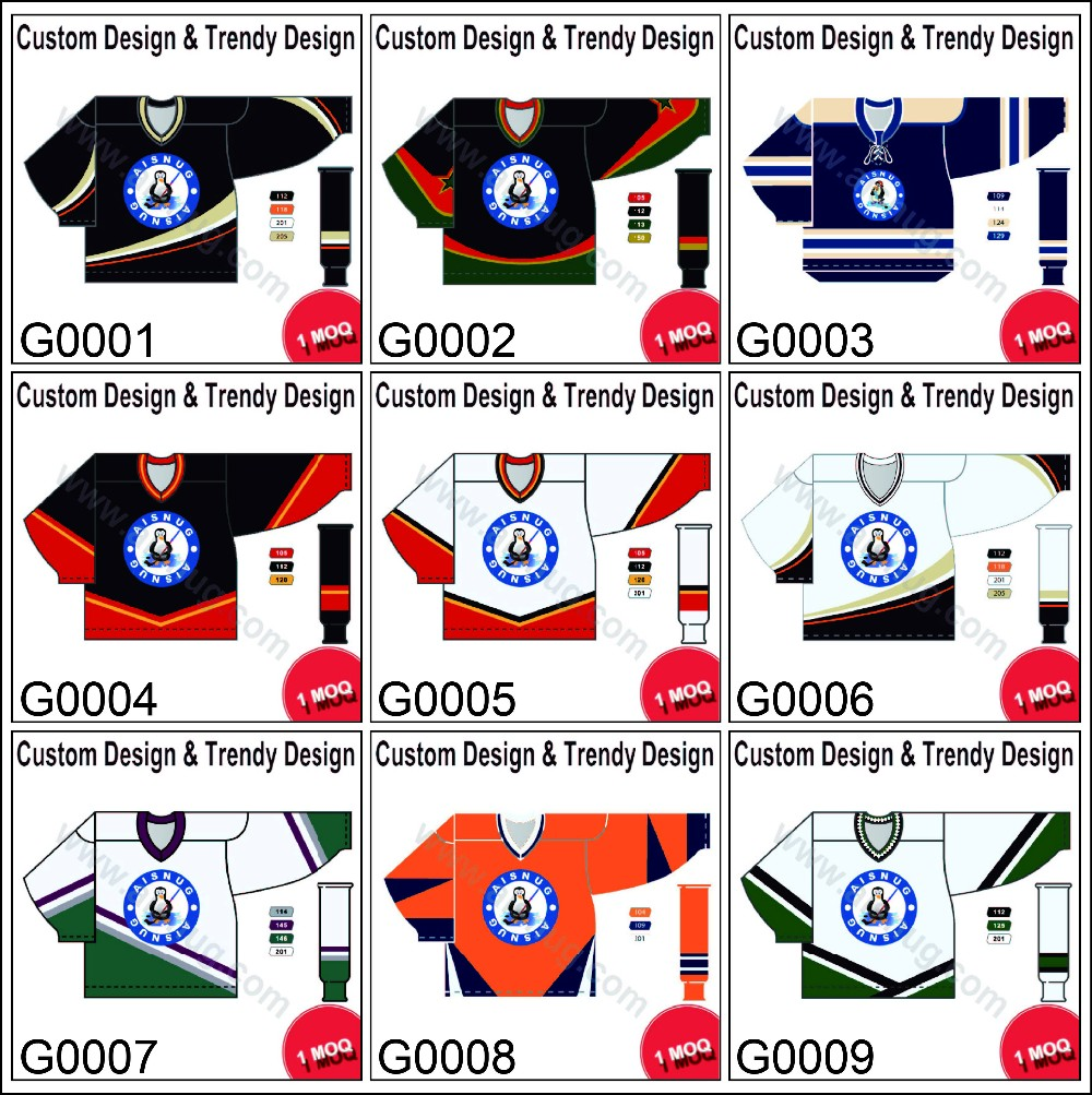 sublimated new design polyester wicking hockey jersey custom reversible fashion hockey jerseys