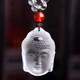 Factory Sell Hand Carved Natural Clear Quartz Crystal Stone Buddha Head Pendant