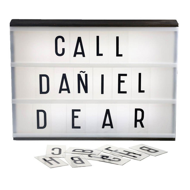 France market spell it out A4 light box letter pack <strong>signs</strong>