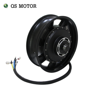 QS Motor 17X4.5inch 12kW-14kW 273 Water Cooled Electric Motorcycle Hub Motor