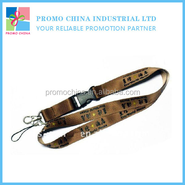 Promotion Branded Logo Corporate Gifts Polyester Printing Lanyard With Metal Hook