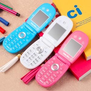 da742c25b Unlocked Flip Cell Phone W88 1.8'' pretty Flashlight Small Woman Kid Girl  Cute Hello