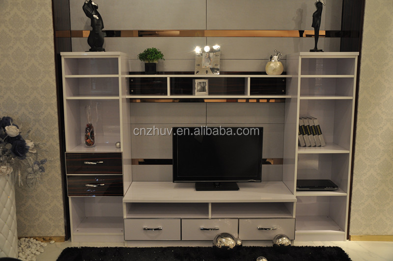 Tv Lcd Wooden Cabinet Designs For Living Room