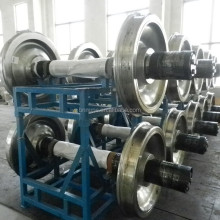 cast steel railway parts bogie wheel for railway freight car