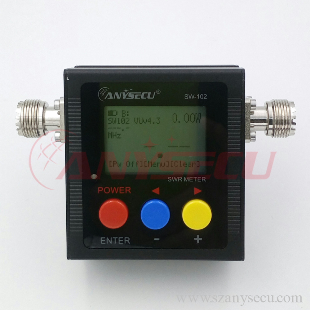 Anysecu Sw-102 125-525mhz Digital Vhf/uhf Antenna Power & Swr Meter With  So239 Connector For Mobile Radio - Buy Reflected Power Direct Digital  Readout