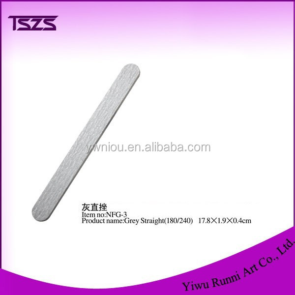 Wholesale nail file grey straight zebra nail file