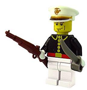 Brick Brigade Custom Lego Military Soldier Minifigure Model Soldiers US Dress Marine White