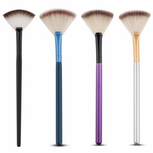 Professionelle Fan Make-Up Pinsel Gesicht Hervorhebung Make-Up Kosmetik Pinsel
