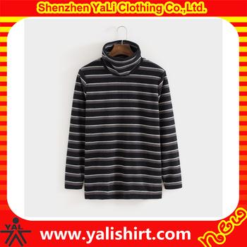 Striped Wholesale Pullover Mens Turtleneck Flannel Shirt Men ...