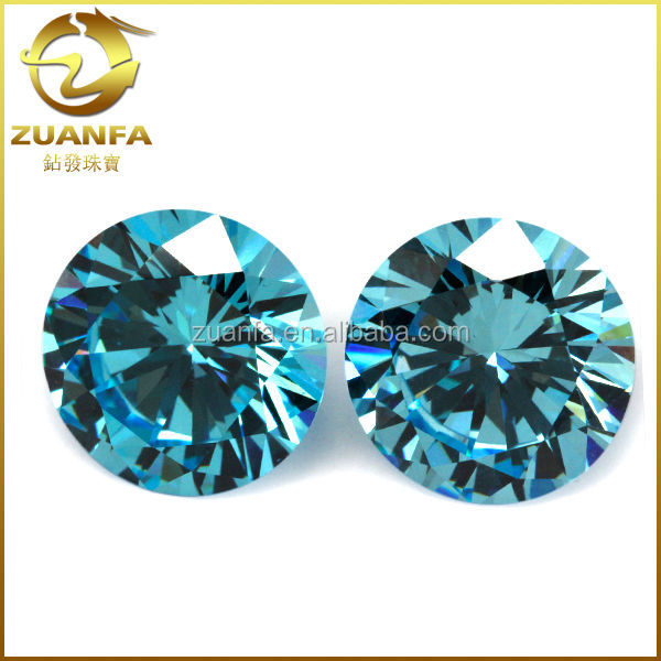 aquamarine gems sky blue cubic zirconia gemstone
