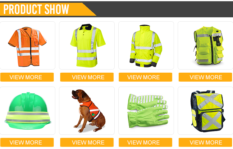 Orange reflective hi vis sweatshirts for men