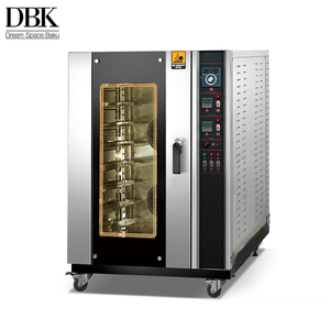 DBK 5 8 10 trays Automatic hot air electric stainless steel commercial convection oven for sale