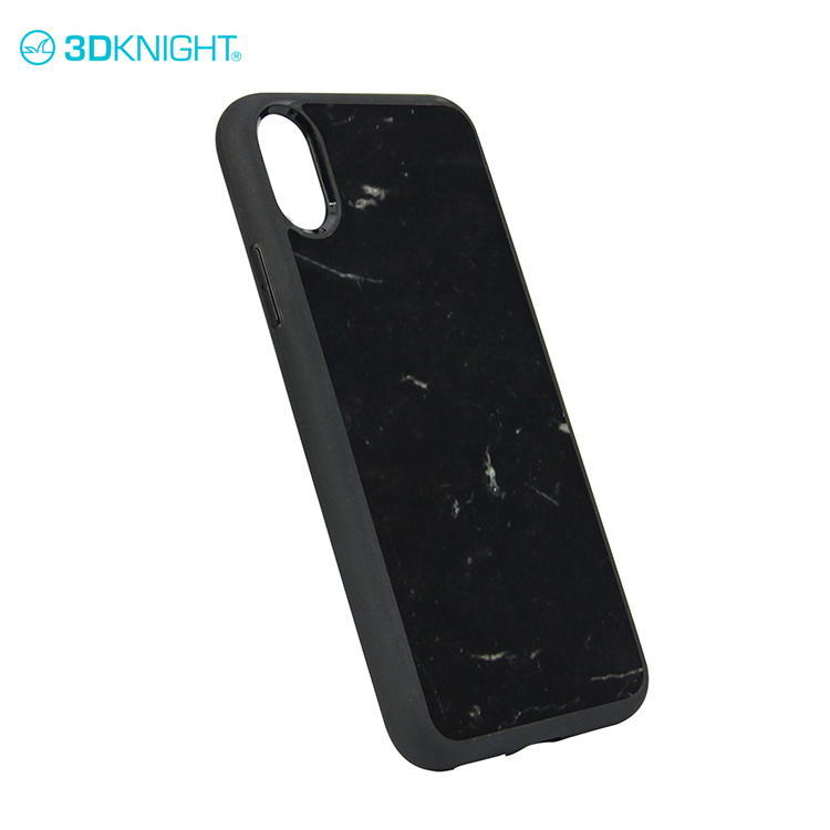 Super luxury black marble phone cover for iphone X marble case custom