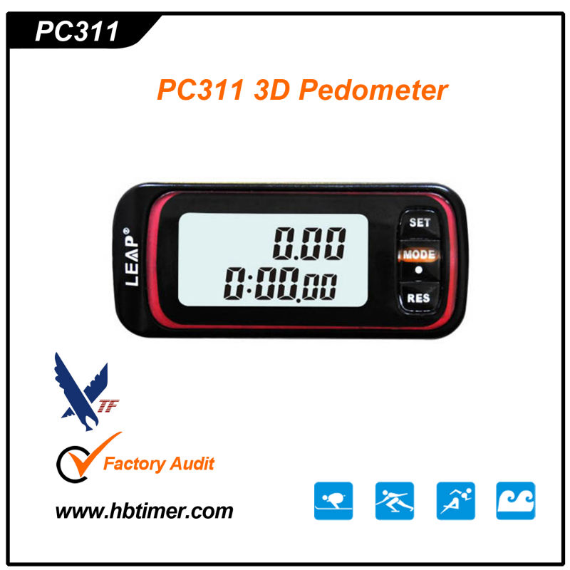 Fitness Gifts LCD Double Screen Display Professional 3D Pedometer with step/ Calories/Walking Distance/Stopwatch counter