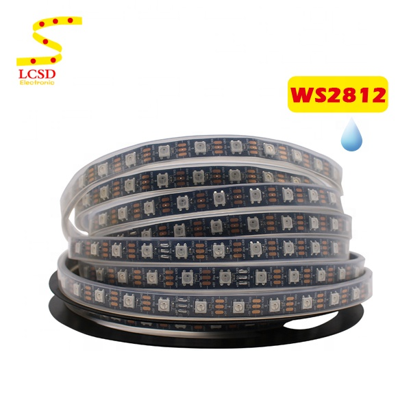 5V 60 led Individually Addressable WS2812B 5050 RGB Led Strip Waterproof