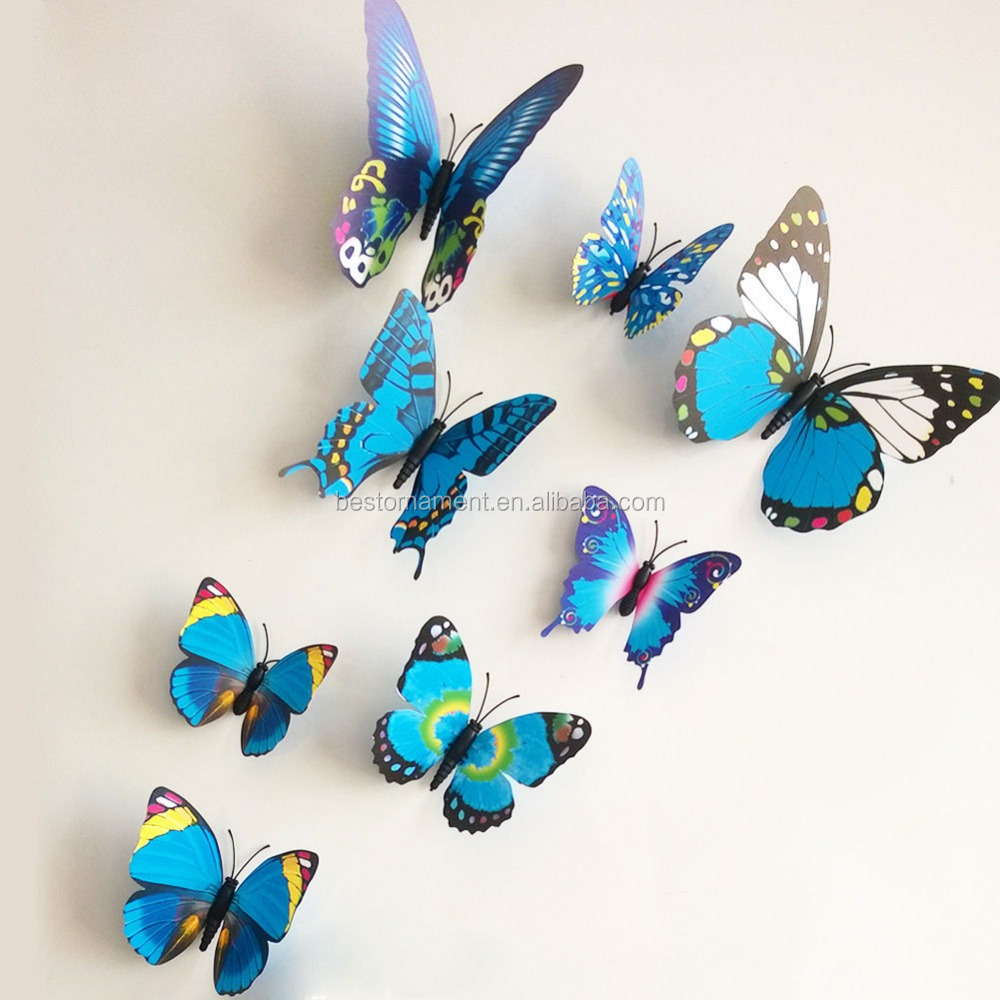 3d Butterfly Sticker Art Design Decal Wall Stickers Home Decor Room Decorations Buy Removable