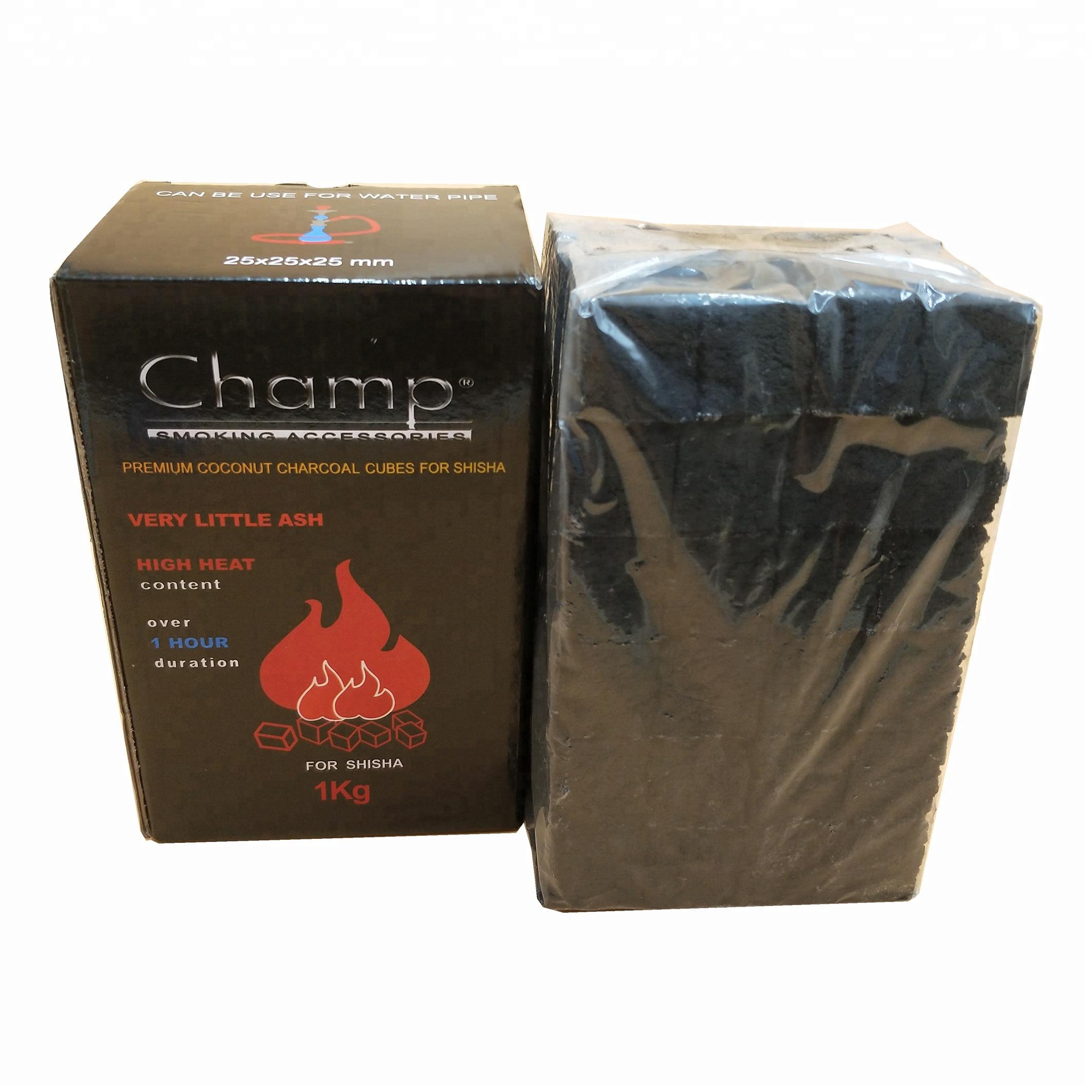HQHC0025 HongQiang coconut shell shisha hookah cube charcoal