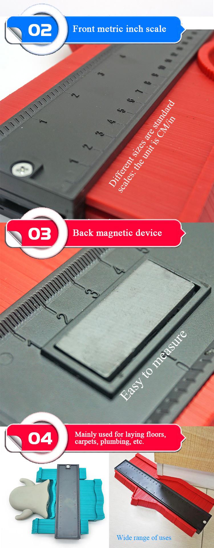 Высокое качество 5 дюймов 10 дюймов рабочий манометр Дубликатор пластиковый профиль контурный манометр копировальный инструмент