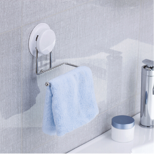 buy suction cup or glue fix stainless steel bathroom towel rack towel rail. Black Bedroom Furniture Sets. Home Design Ideas