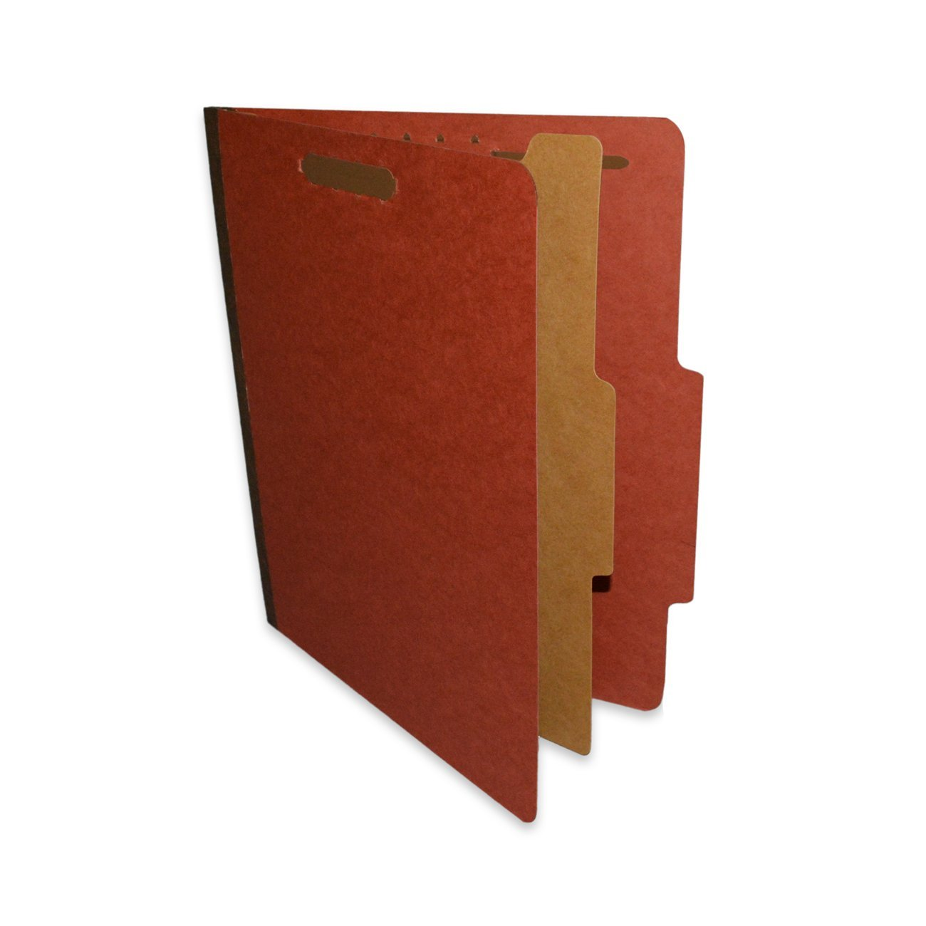 "ALL-STATE LEGAL Pressboard Classification File Folder, 1 Divider, 1 1/2"" Expansion, Letter Size, Executive Red, 20 per Box"