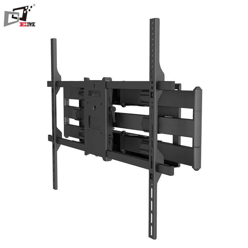 Full Motion 180 Degree Telescoping LCD TV Wall Mount Wall TV Stand With Cable Management