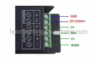 Hot Rf Dual White Led Controller Led Color Temperature Controller ...