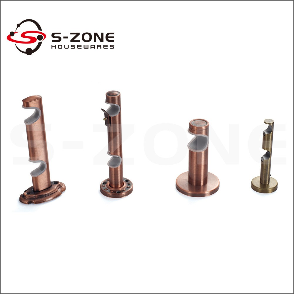 Connecting decorative pipe wall mount iron rod curtain bracket ... for Fancy Curtain Brackets  111bof