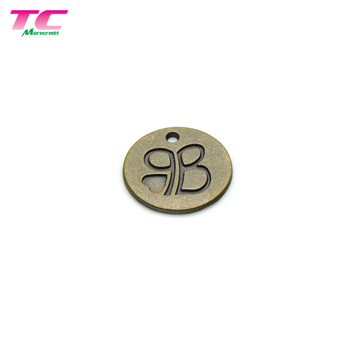 High Quality Custom Engraved Logo Metal Jewelry Charm Luxury Jewelry Necklace Pendant