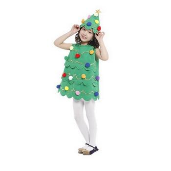 baby clothing christmas tree cosplay tank and cap gree christmas tree kids costume