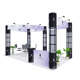 New Design Fair Stand Trade Show Modern Exhibition Booth System Panel 6mx6m