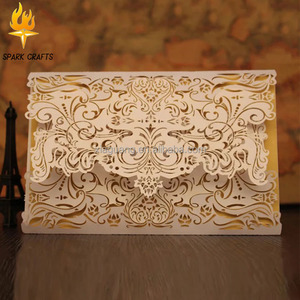 Professional manufacture Good Quality wedding card laser cut,laser cut wedding invitation card