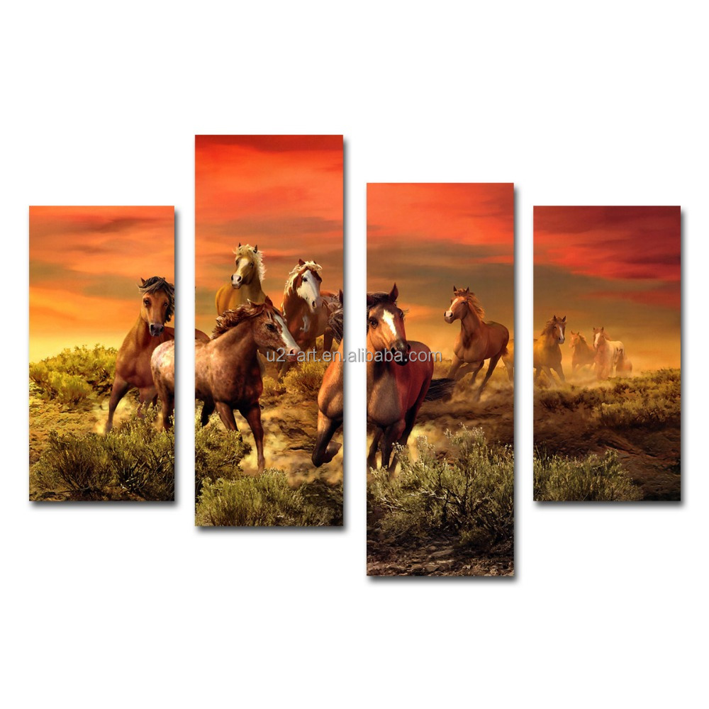 Running horse painting frameless canvas prints