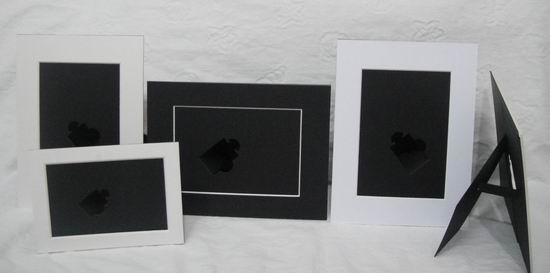 8 5x11 Black Cardboard Picture Frame With Stand Buy