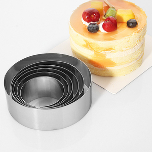 Baking tools Round Stainless steel Cake Mold 6 Pcs Sets