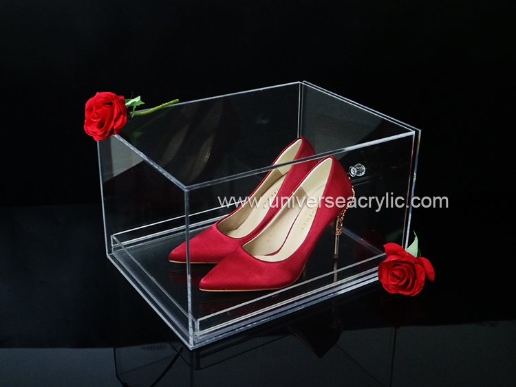 UNIVERSE factory 3mm clear luxury shoe display acrylic boxes