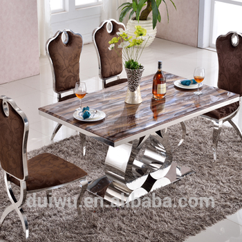 Italian modern artificial marble slate dining room table
