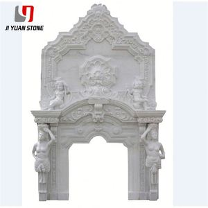 Competitive Price Modern Fireplace Marble Surround Indoor Fire Place